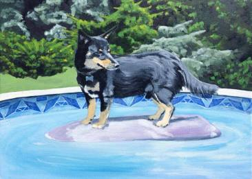 Ace, 2014. Oil on Canvas, 11x14 inches. Commission.