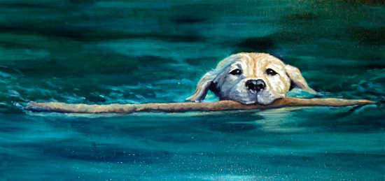 Determination, 2014 .Oil on Canvas, 12x24 in. Private Collection.