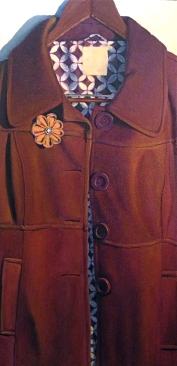 Fabrication, 2013. Oil on Canvas. 15 x 30 in. SOLD. Daisy for the Birds. 604B Duval St. Key West, FL.