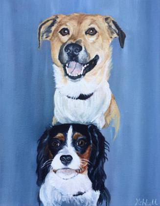 Gypsy and Willow, 2014. Oil on Canvas, 11x14 inches. Commision.