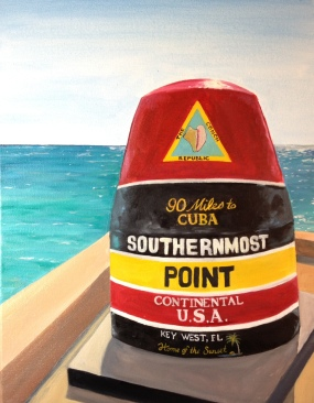 Southernmost Buoy, 2014.Oil on Canvas, 14x18 in. Private Collection.