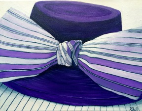 The Purple Hat, 2015. Oil on Canvas 11x14. Private Collection