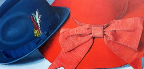 Yours and Mine, 2014. Oil on Canvas 15x30 in. Available.